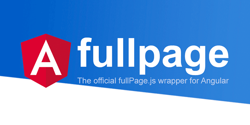Official Angular component for fullPage js