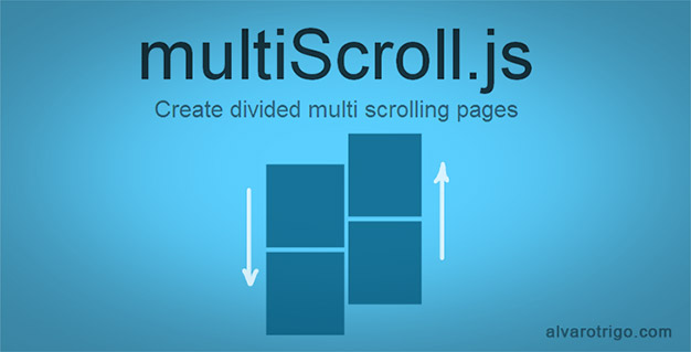 Jquery plugin to create multi scrolling sites with two vertical split layouts - Jquery scroll to div ...
