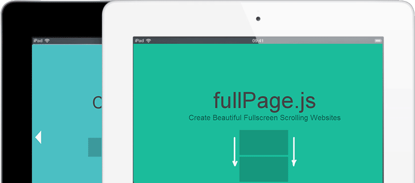 fullPage scroll snapping. Create full screen pages fast and simple