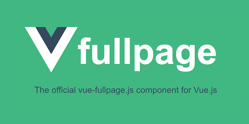 Official Vue js Component for fullPage js